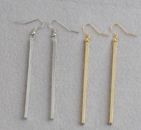 High Quality Arrival Women Statement Party Wedding Alloy  linear minimalist style female earrings Linear Earrings