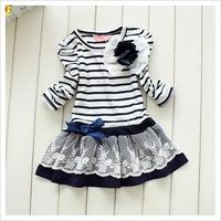TS Preorder!Retail 1 pcs Girl Princess Dress 2014 New Fashion Brand Children Girls Dress Hot Saling Baby Kids Clothing Set