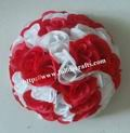 Wedding-bride-flowers-plastic-center-MIX-red-white-artificial-flowers-ball-wedding-kissing-ball-15cm