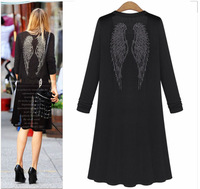 New 2015 Long Thin Cardigan Sun Protection Clothing Women Fashion See Through Knit Top Long Sleeve Blouse Shirts Knitwear