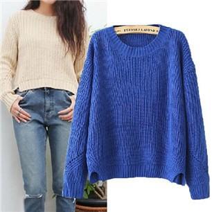 Korean-fashion-wild-simple-round-neck-sweater-hedging-sweater-loose-sweater-bottoming-shirt-ladies-sweater-110408