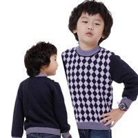 All-Match-Children-Winter-Clothing-Boys-Sweaters-Outwear-Size-90-130-cm-Plaid-Pattern-Kids-Pullovers