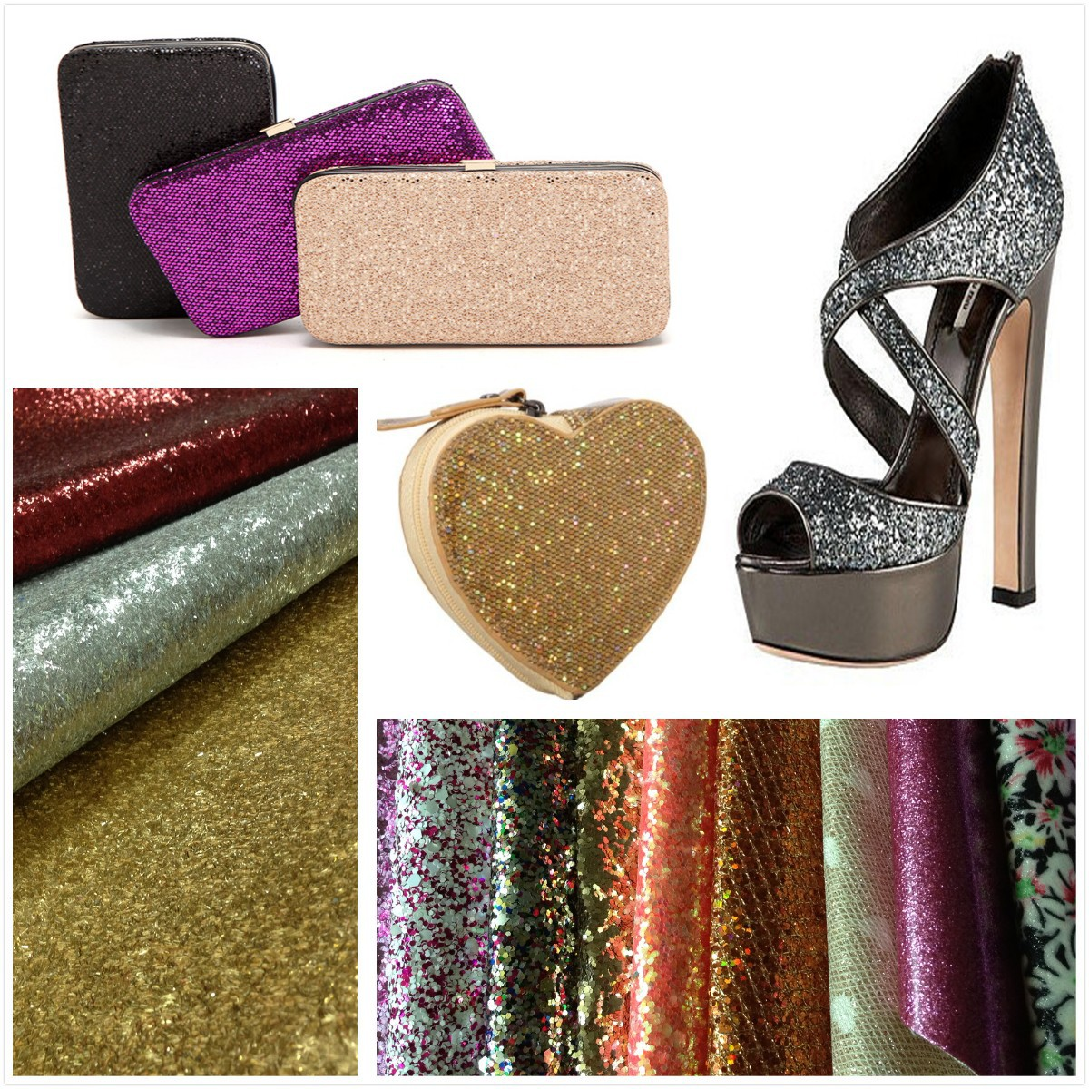 Glitter leather 1
