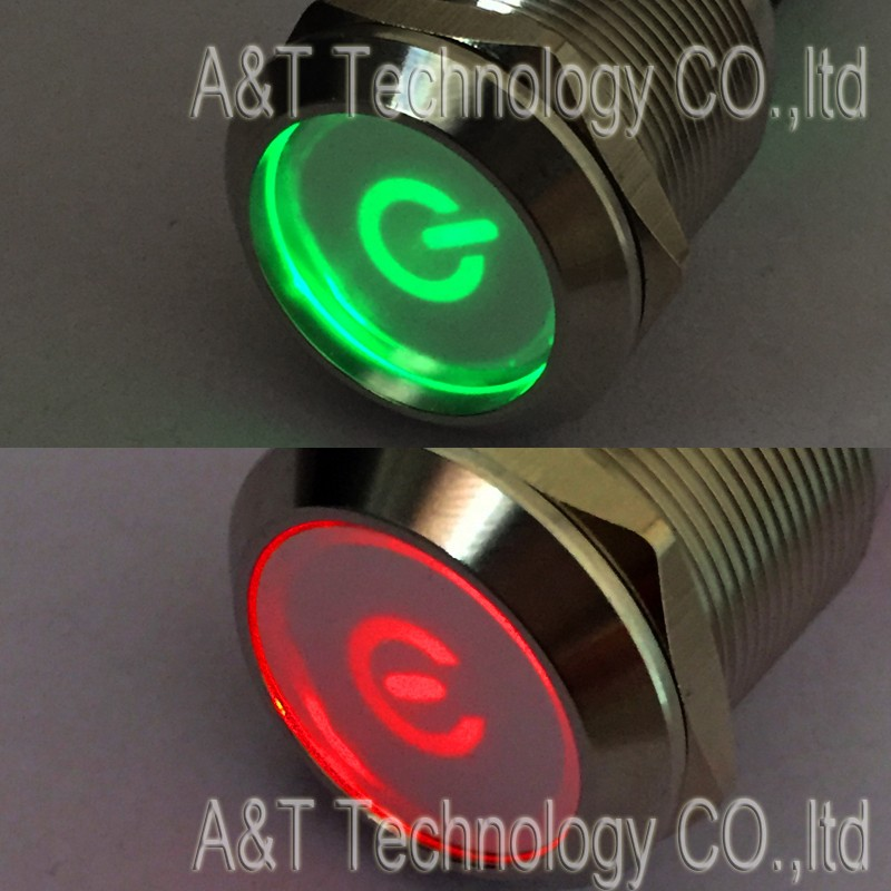 22 double led round powerR-powerG button 6