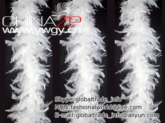 80 gm Chandelle Feather Boa - White