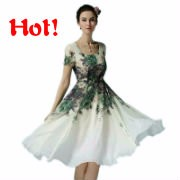 women-flower-print-dress-short-sleeve-ladies-knee-length-chiffon-dress-white-casual-summer-dresses