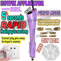 5' Rapid Heat ! 1pc/lot purple Hot fix Applicator wand Gun for Hotfix Rhinestones iron on crystals + free DIY box