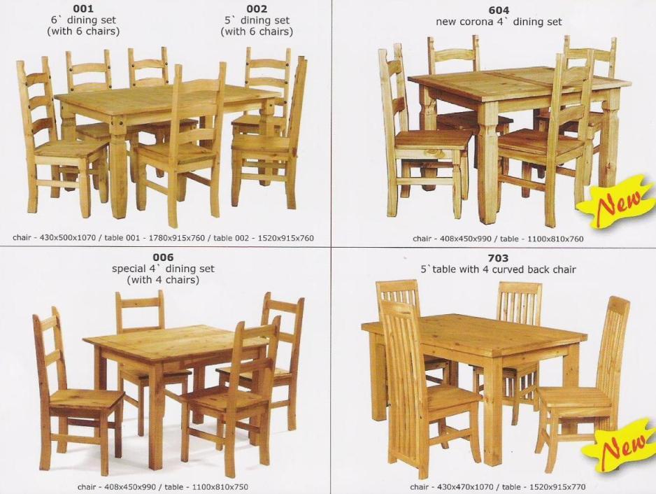 muebles en madera de pinoSets ComedorIdentificación del producto