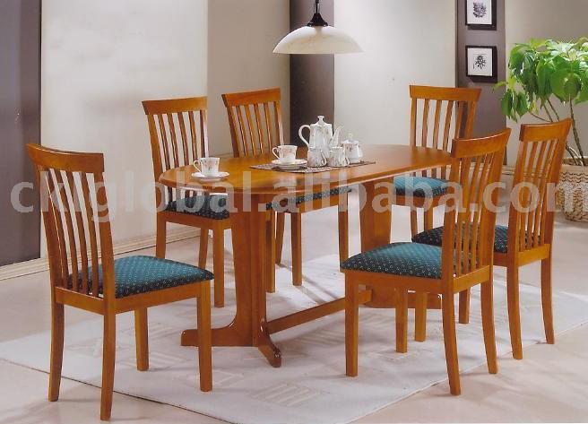 Juego de comedor mesa parson silla de comedor de madera for Precios de sillas de madera para comedor