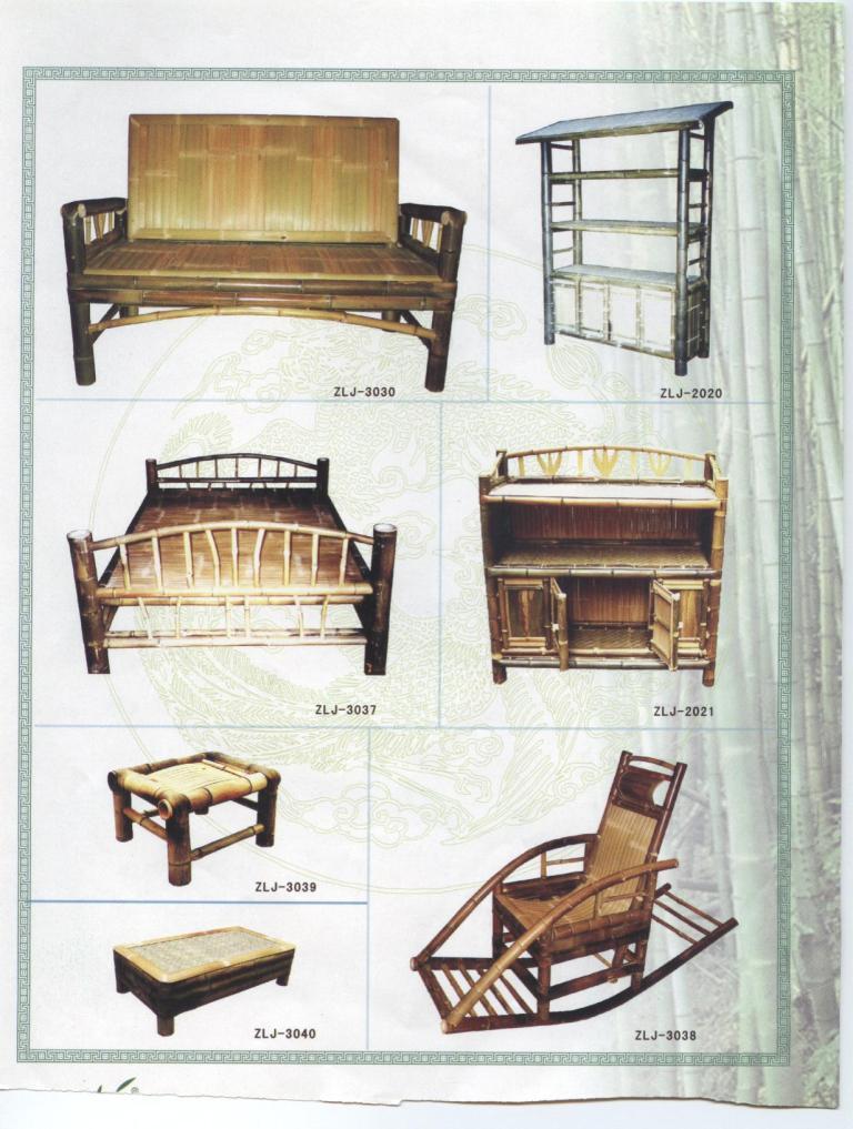 Muebles de bamb hechos a mano mobiliario diverso - Muebles en bambu ...