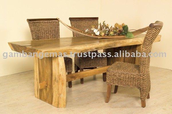 Troncos de madera mesa de comedor mesa de madera - Mesas de troncos de madera ...