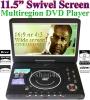 11. 5&Quot; Swivel Portable Dvd Player + Tv + Games + Usb + Sd / Mmc