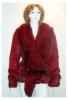 Rabbit Fur Coat With Fox Collar