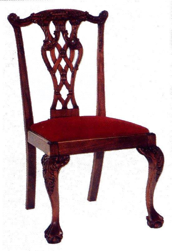 Chippendale comedor silla sillas sala estar identificaci n - Sillas chippendale ...