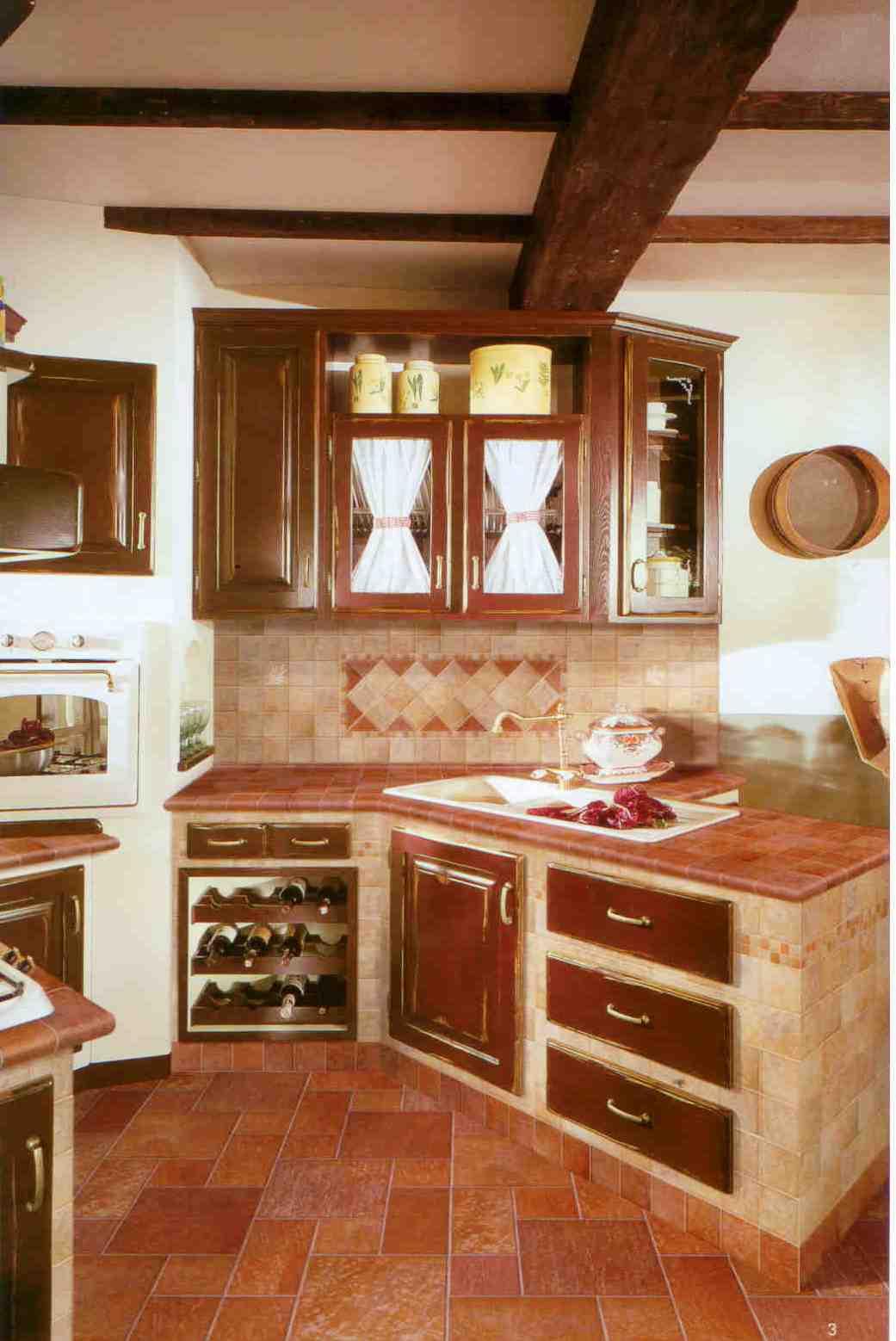 Azulejos de piso una cubierta para la cocina cer mica for Baldosas rusticas