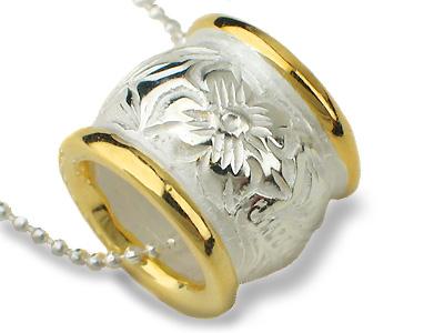 اكسسوارات روعة Hawaiian_Barrel_Jewelry_W_Silver_Plumeria_Pendant_2_Tone.jpg