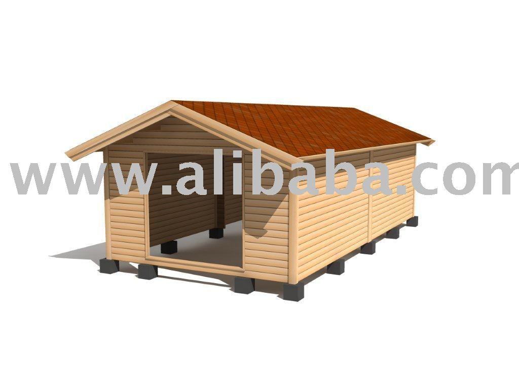 De herramientas de madera casa 30m2 prefabricados for Casa para herramientas