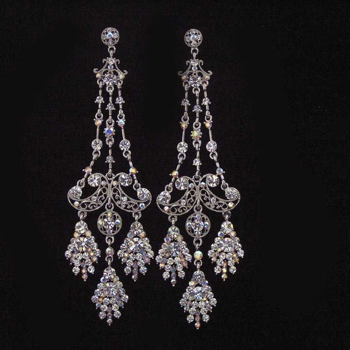 Black Earrings | Black Crystal Earrings | Black Onyx Earrings