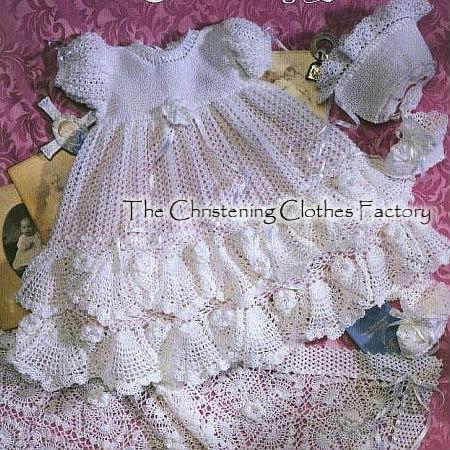 Vestidos bautizo tejidos crochet - Imagui