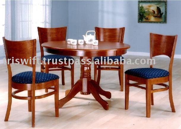 De madera juego de comedor muebles juego de comedor for Ver modelos de sillas de madera
