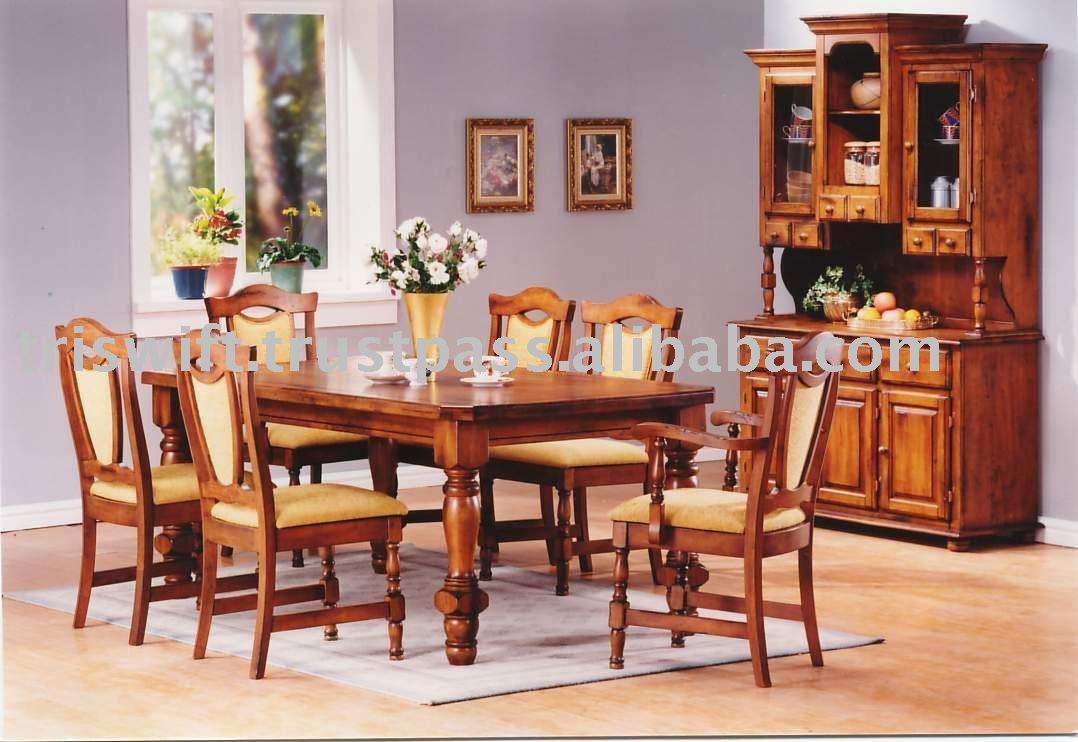 Ver fotos de comedores de madera for Modelos de muebles de madera