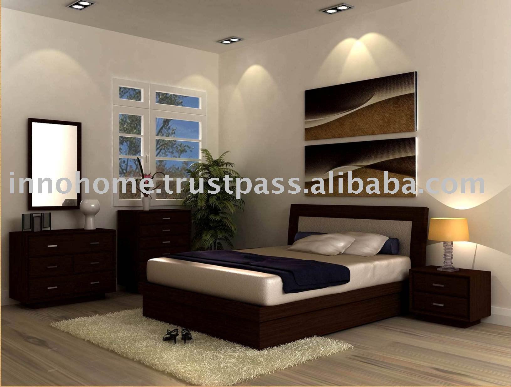 Meubles de chambre coucher en bois caoutchouc bois for Set de chambre a coucher