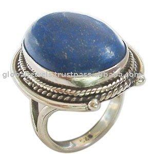 حجر اللازورد  خواص وعلاجات واشكاله  925_Sterling_Silver_Genuine_Lapis_Lazuli_Ring