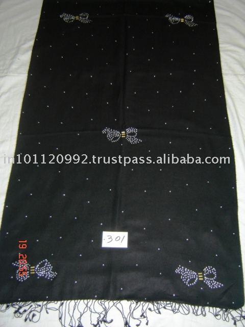 Item# 301 pashmina de seda c - trabajo nudos de corbata s - trabajo el