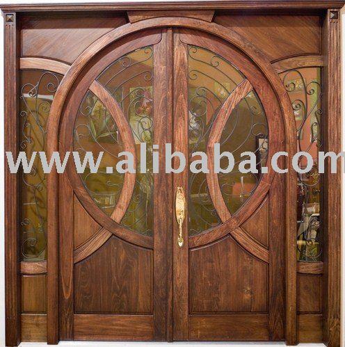 Porte d 39 entr e en bois portes id du produit 107780800 for Repeindre une porte d entree en bois