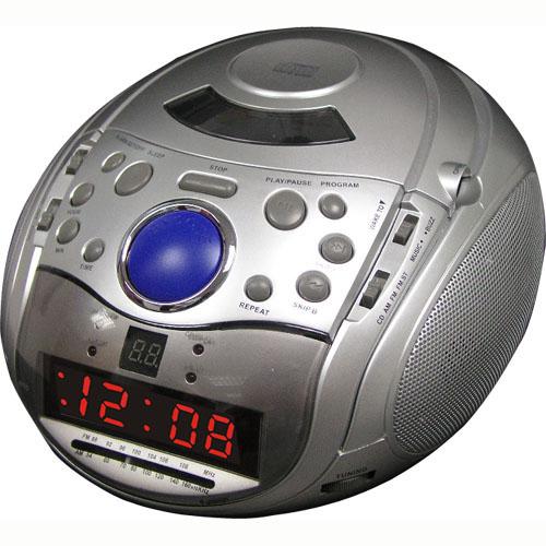 alarm clock with cd applinces funda. Black Bedroom Furniture Sets. Home Design Ideas