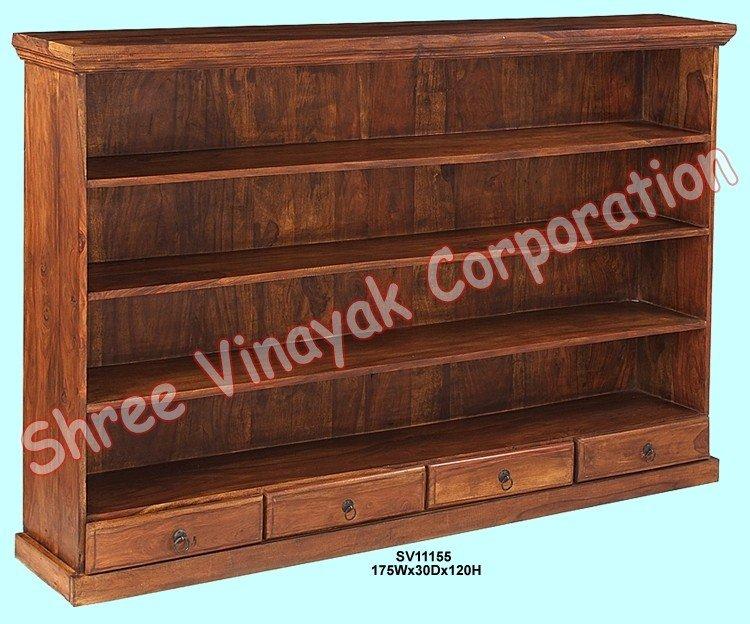 Estante de libro de madera muebles de madera estante de for Libros de muebles de madera