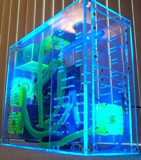 Ultimate UV Reactive Blue Acrylic DIY PC Case New - iLGin� pc kaSaLar� .. !