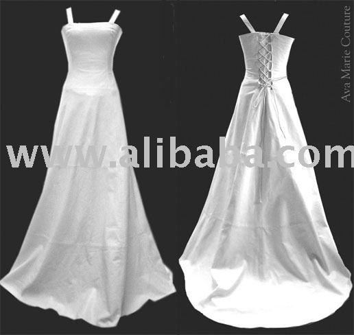 Leather wedding dress white - White dress