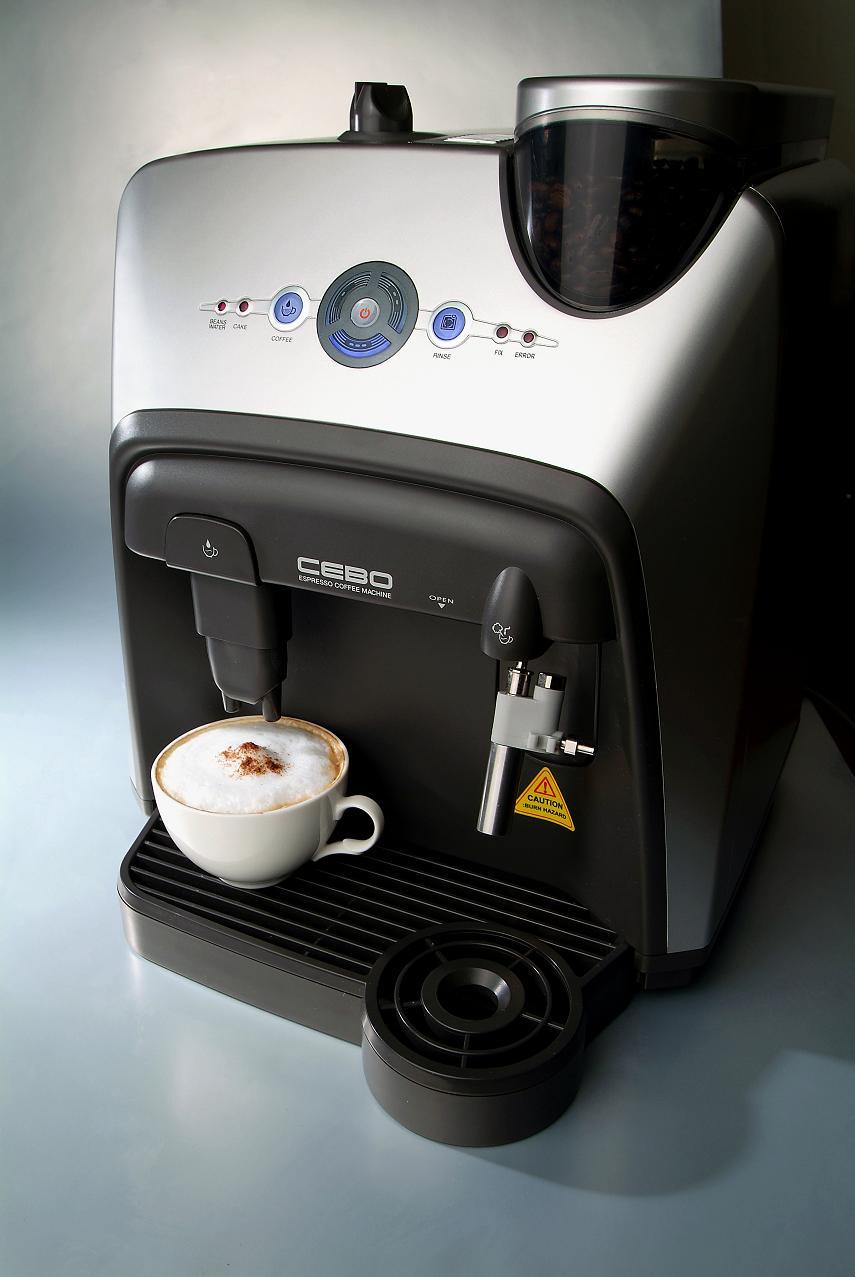 kita vollautomatische espresso kaffee maschine cebo. Black Bedroom Furniture Sets. Home Design Ideas