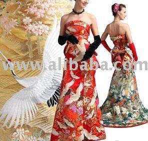 Vestido exclusivo feito do quimono autêntico (FEITO EM JAPÃO)