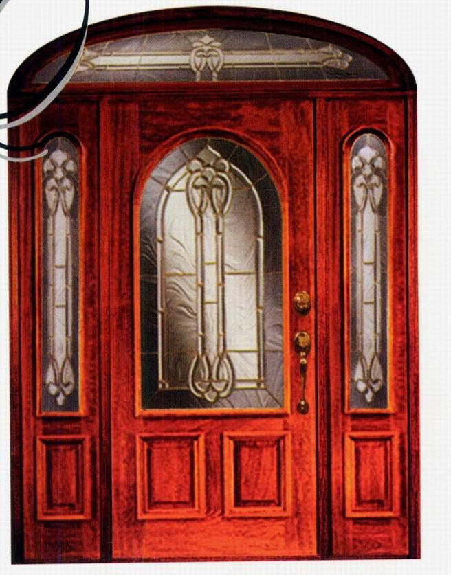 de entrada de madera con puerta inserta camed de vidrio