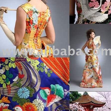 Quimono japonês luxuoso
