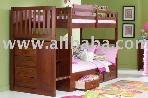 Escalera de madera literas ni os adultos nuevo cama for Escaleras plegables baratas