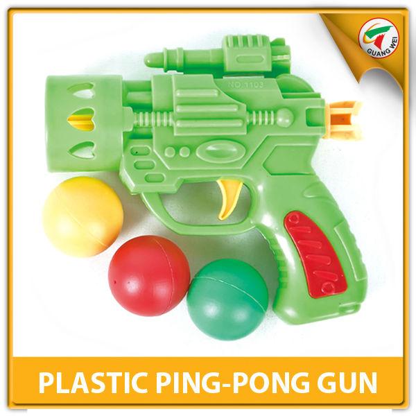 ... fantaisie en plastique pp ping- pong balle shoot gun pour les enfants