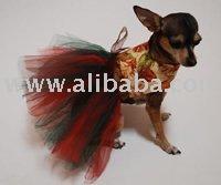 Vestido feito sob encomenda do cão do tutu das folhas de outono do vestido da roupa do tshirt da saia do fato do feriado do cão de animal de estimação