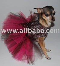 persiga a cor-de-rosa do feriado & a roupa do fato do tutu da flor de Brown veste a cama do tshirt da saia