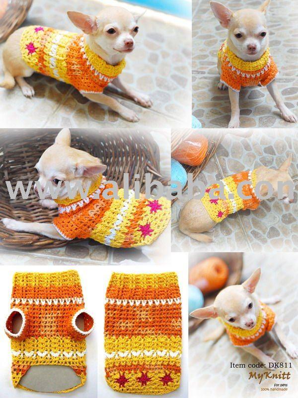 Ropa para perros tejida al crochet
