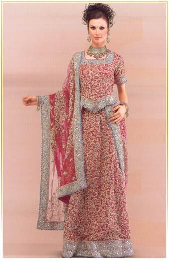 Wedding Dresses Embroidered_Ghagras_Lehenga_Choli
