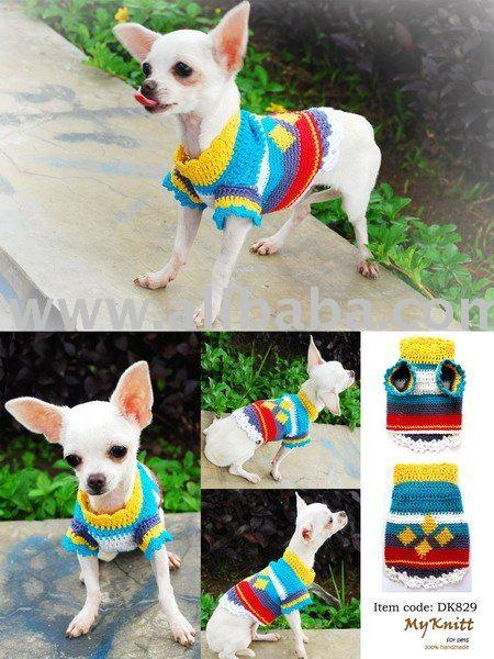 Ropa para perros a crochet