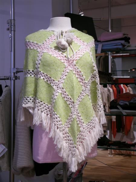 100 Cashmere Handknit Poncho