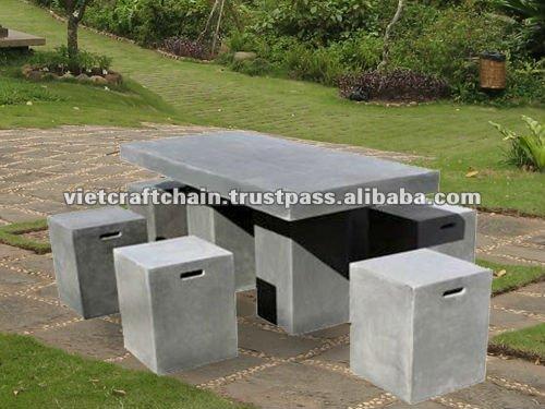 mesa jardim concreto : mesa jardim concreto:Luz mesa de cimento , lite concreto móveis , betão leve-Vasos de