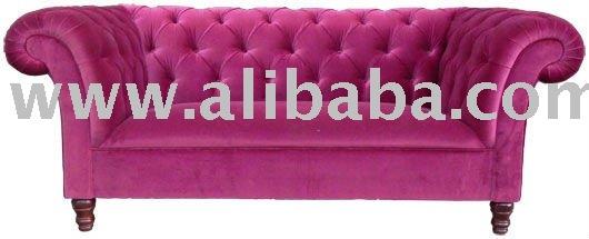 kempton samt gewebe chesterfield sofa wohnzimmer sofa produkt id 116782872. Black Bedroom Furniture Sets. Home Design Ideas