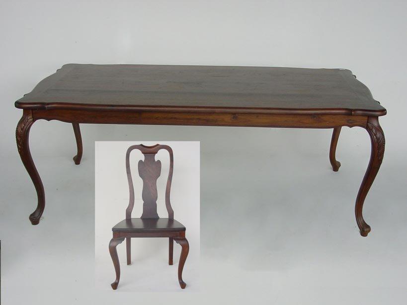 estilo colonial mesa de jantar com cadeiras mesas de jantar id do produto 11705566 portuguese. Black Bedroom Furniture Sets. Home Design Ideas