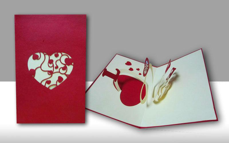 hecha a mano amor pop hasta 3d tarjetas de felicitación - spanish.