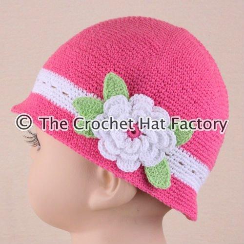 Sombrerito de nena al crochet - Imagui